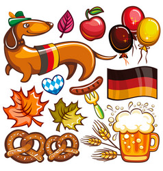Oktoberfest set of icons and objects vector