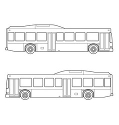 outline city transportation bus automobile vector image