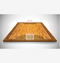 Perspective of hardwood handball field cort eps vector