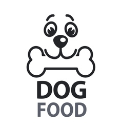 Pet food logo with dog icon concept of veterinary vector