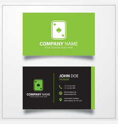 Playing cards icon business card template vector