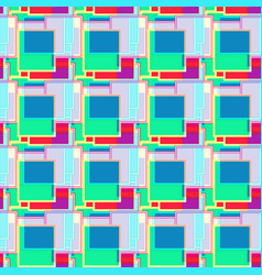 Psychedelic colored geometric seamless pattern vector