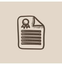 Real estate contract sketch icon vector image