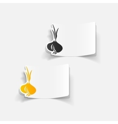 Realistic design element onion vector