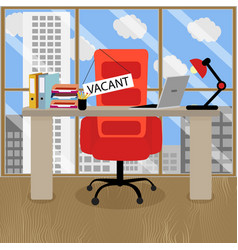 Require employee for vacant seat vector