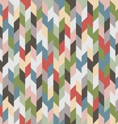 Retro colored geometric seamless background vector image vector image