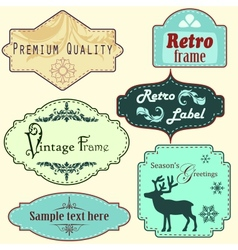 Retro frames set vector image