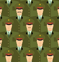 Russian military officers seamless pattern Army vector