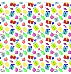 Seamless pattern background with new year and vector image