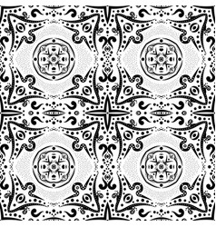 Seamless pattern with swirls and dots vector
