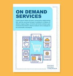 Services ordering brochure template layout vector