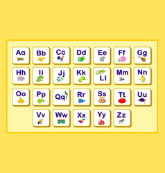 Set cards to study abc play and learn alphabet vector