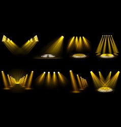 set light effect spotlight vector image