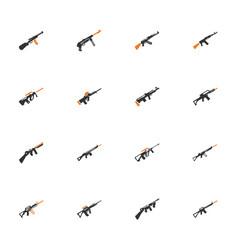 Set of hand weapons vector