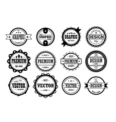 Set of vintage icons vector