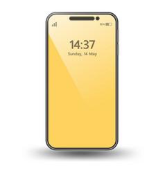 Smartphone element for artwork promomock up 3d vector