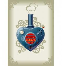 steam valentine vector image