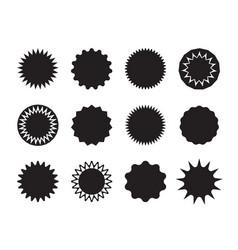 sticker star circle shape starburst vector image