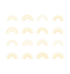 sunburst rays isolated sun burst retro lines vector image