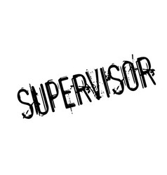 Supervisor rubber stamp vector