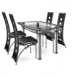 table amp chairs vector image