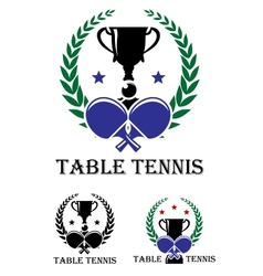 Table Tennis emblem vector image