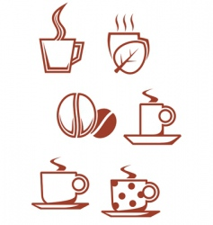 tea and coffee symbols vector image