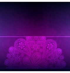 Template frame design for card with hand drawn vector image