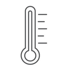 thermometer thin line icon measurement and vector image