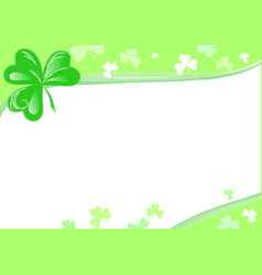 three leaf clover page vector image