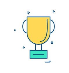 trophy cup winner icon design vector image