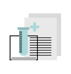 tube test with medical order document icon vector image
