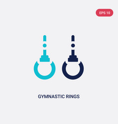 two color gymnastic rings icon from gym and vector image