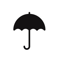umbrella icon isolated on white background vector image