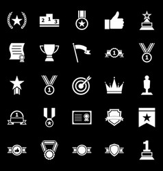 victory icons on black background vector image
