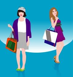 Woman Shopping2 vector image