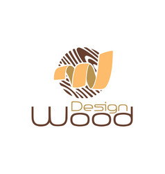 wood-design-logo vector image