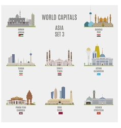 World Capitals vector image