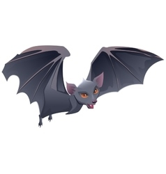 Bat with red eyes and sharp teeth vector