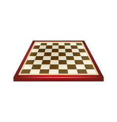empty chess board in red and brown design vector image vector image