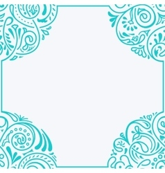 Floral calligraphic frame design for vector