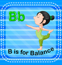 Flashcard letter b is for balance vector