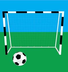 Football gate and ball vector image