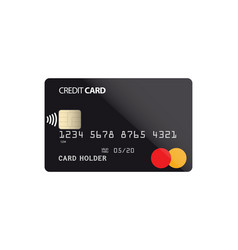 plastic credit card with nfc chip vector image vector image