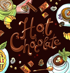beautiful background hot chocolate vector image