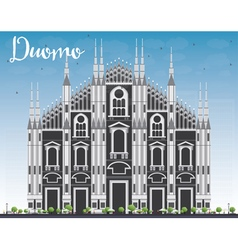 Duomo Milan Italy vector image