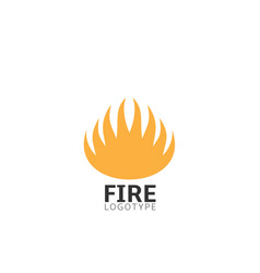 fire logo sign vector image