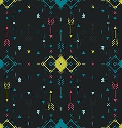 Geometric background Tribal seamless pattern vector image