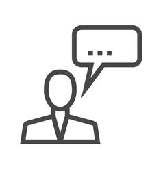 man talking thin line icon vector image