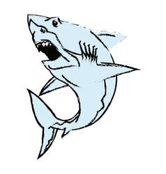 shark mascot angry aggresive predator symbol vector image